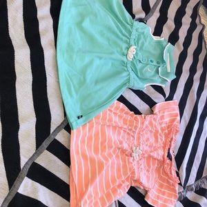 Nautica cotton dresses with elastic waist Set of 2